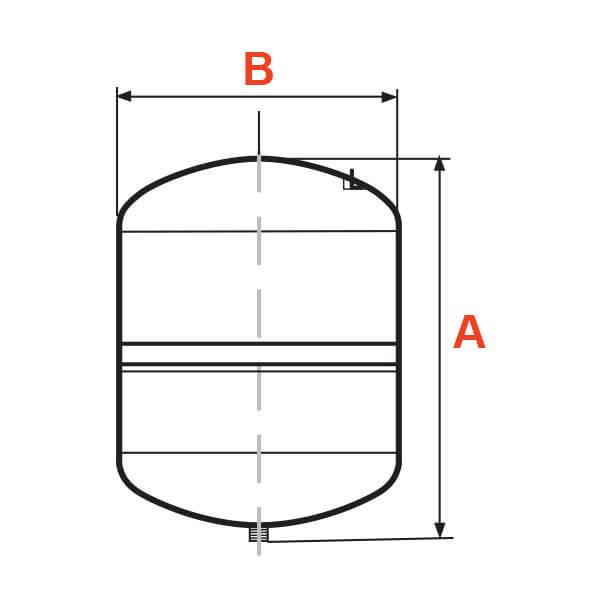 Tanque Alta Presión 24 Litros Esférico Metálico Pearl Dimensiones